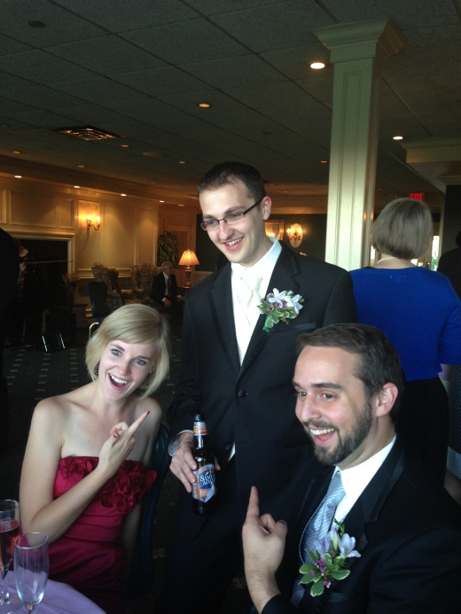 (left to right) Adrian,Tony, and Jon (a groomsmen and Adrian's husband)