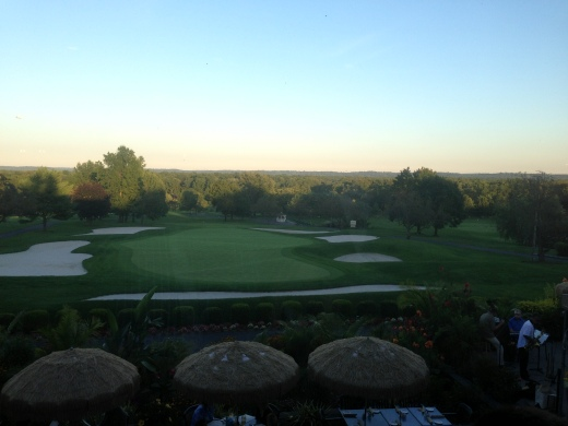 view of the golf course at the country club