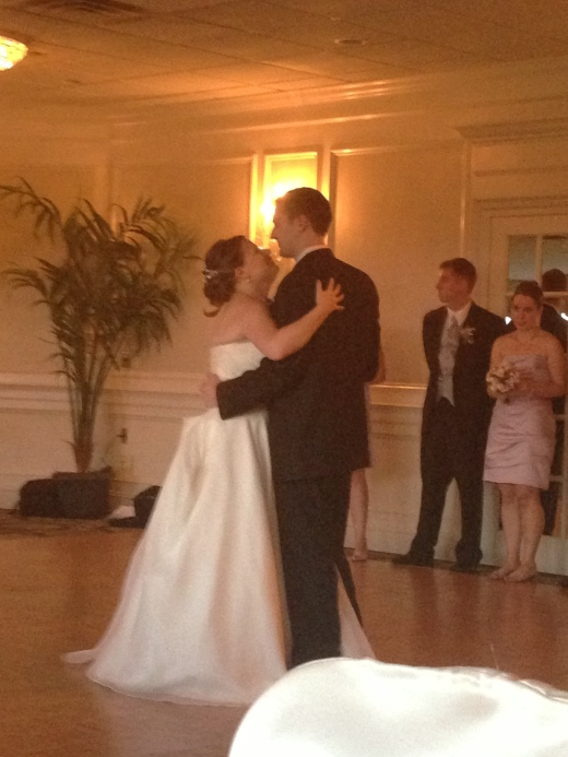 Tony and Sharon having their first dance